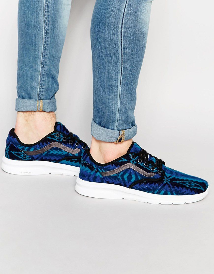 5f728bdfcf17b2 Vans x Pendleton Iso 2 Trainers In Blue V184I2X