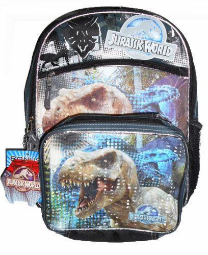 "Jurassic World Park School 16"" Backpack SET Lunch School Bag Indominus Rex NWT #Universal #BackpackLunchBagCombo"