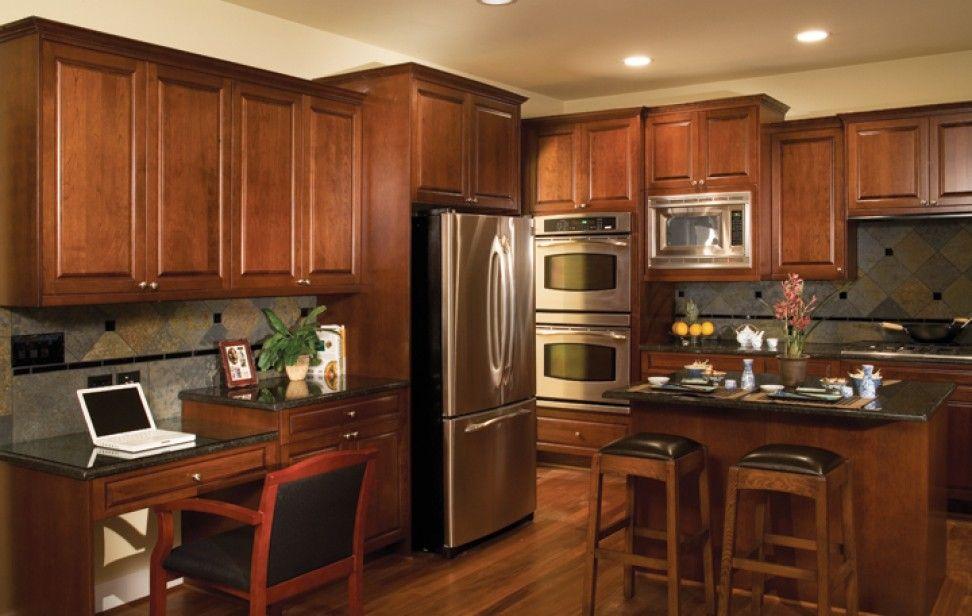 Crest Cherry Sienna 1600 Series Kitchens Bellmont Cabinet Co