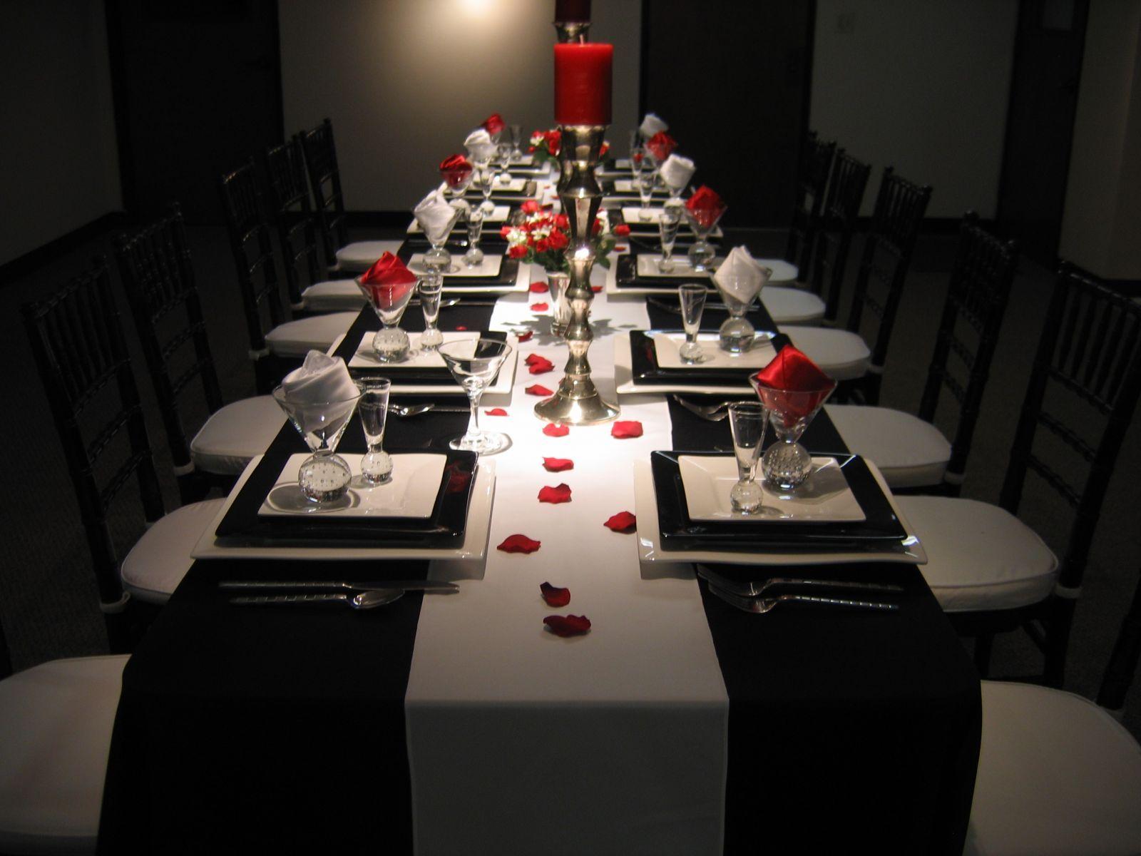 Design Black And White Table Settings elegant black and white table settings dance floor that