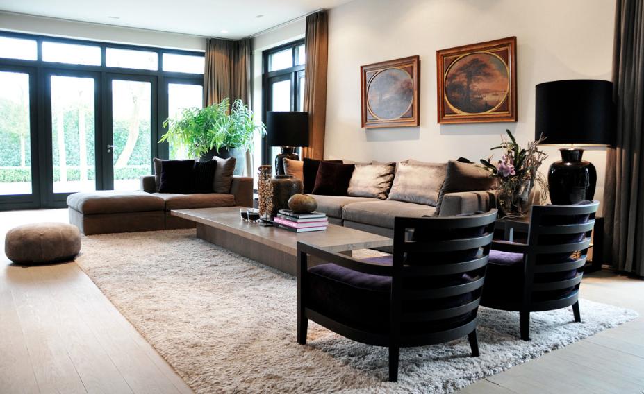 Woonkamer in warm grijs - RAW Interiors | Home design | Pinterest ...