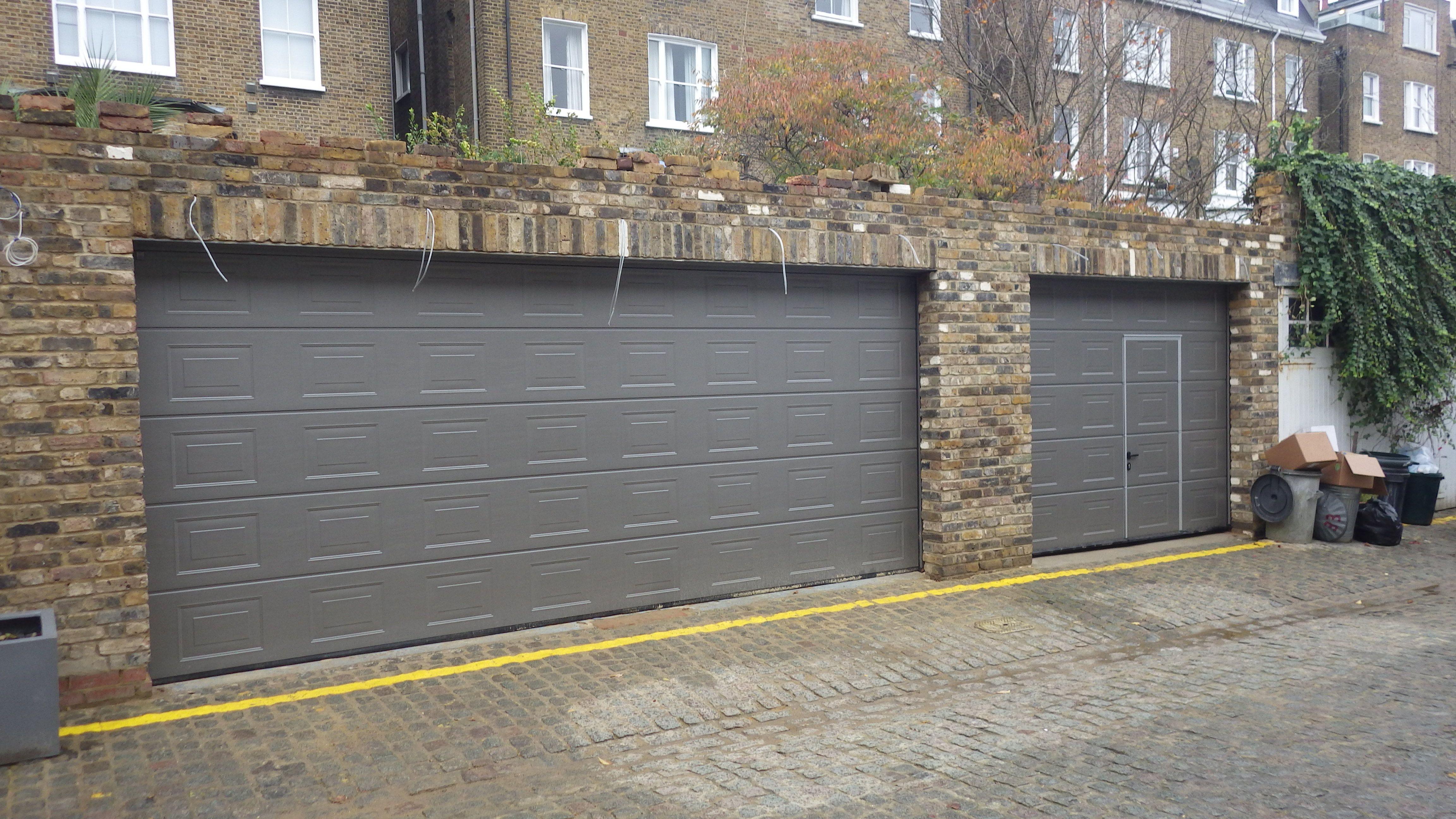 Hrmann Sectional S Panelled Grey Aluminium Ral 9007 Lpu40 Doors
