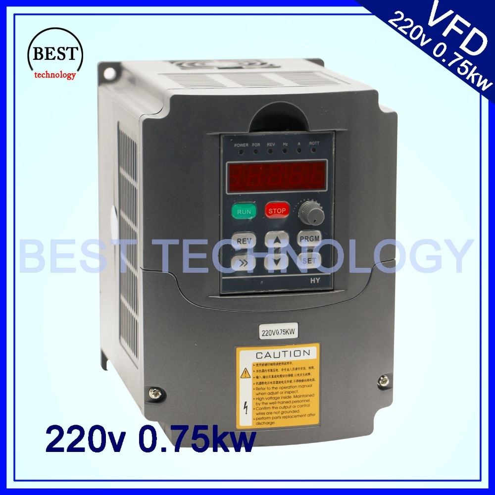 106.80$  Watch here - http://alikk2.worldwells.pw/go.php?t=32332520719 - 220V 0.75KW VFD CNC Spindle motor speed control  750W Variable Frequency Driver  Inverter 1HP or 3HP Input 3HP Output