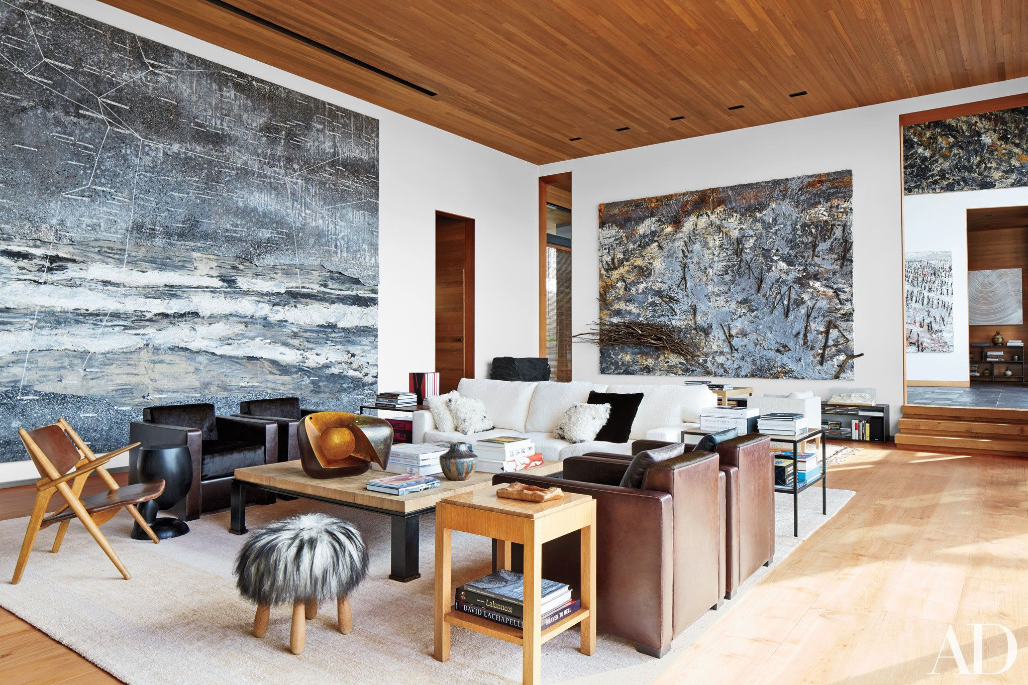 Architect Peter Marinou0027s Rocky Mountain Ski Retreat    Anselm Kiefer  Paintings Preside Over The Living