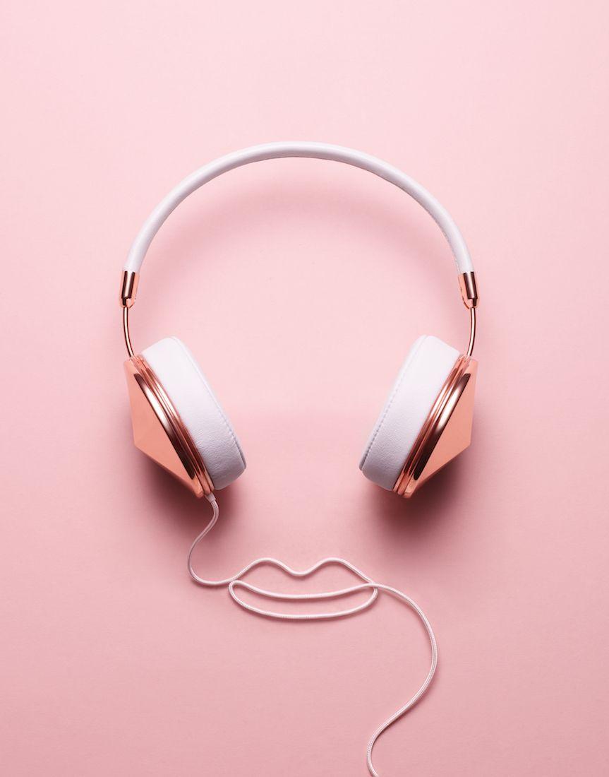 Dennis Petersen Still Life Pink Headphones Rose Gold Aesthetic Pink Aesthetic