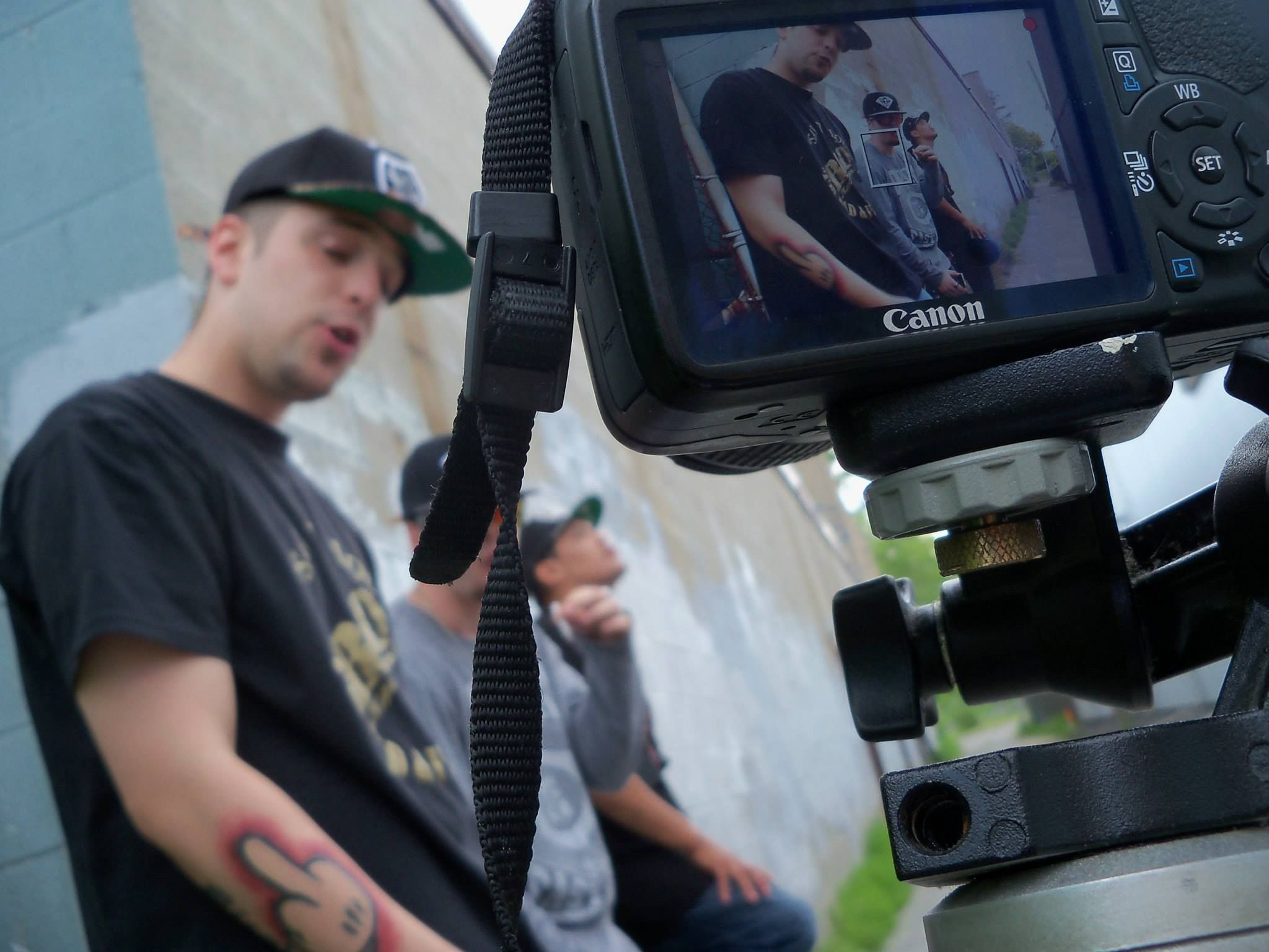 "Video shoot for TeaStar's ""In They Face"""