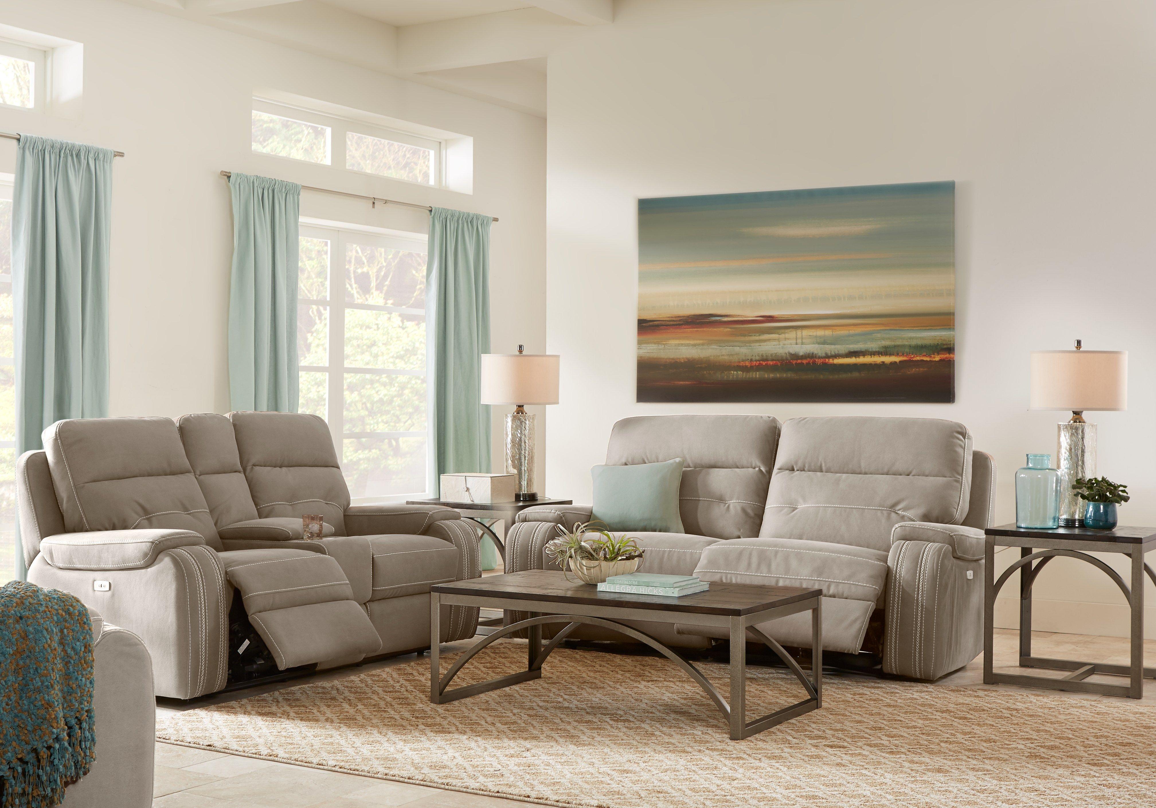 Brampton Place Mushroom 3 Pc Reclining Living Room Living Room