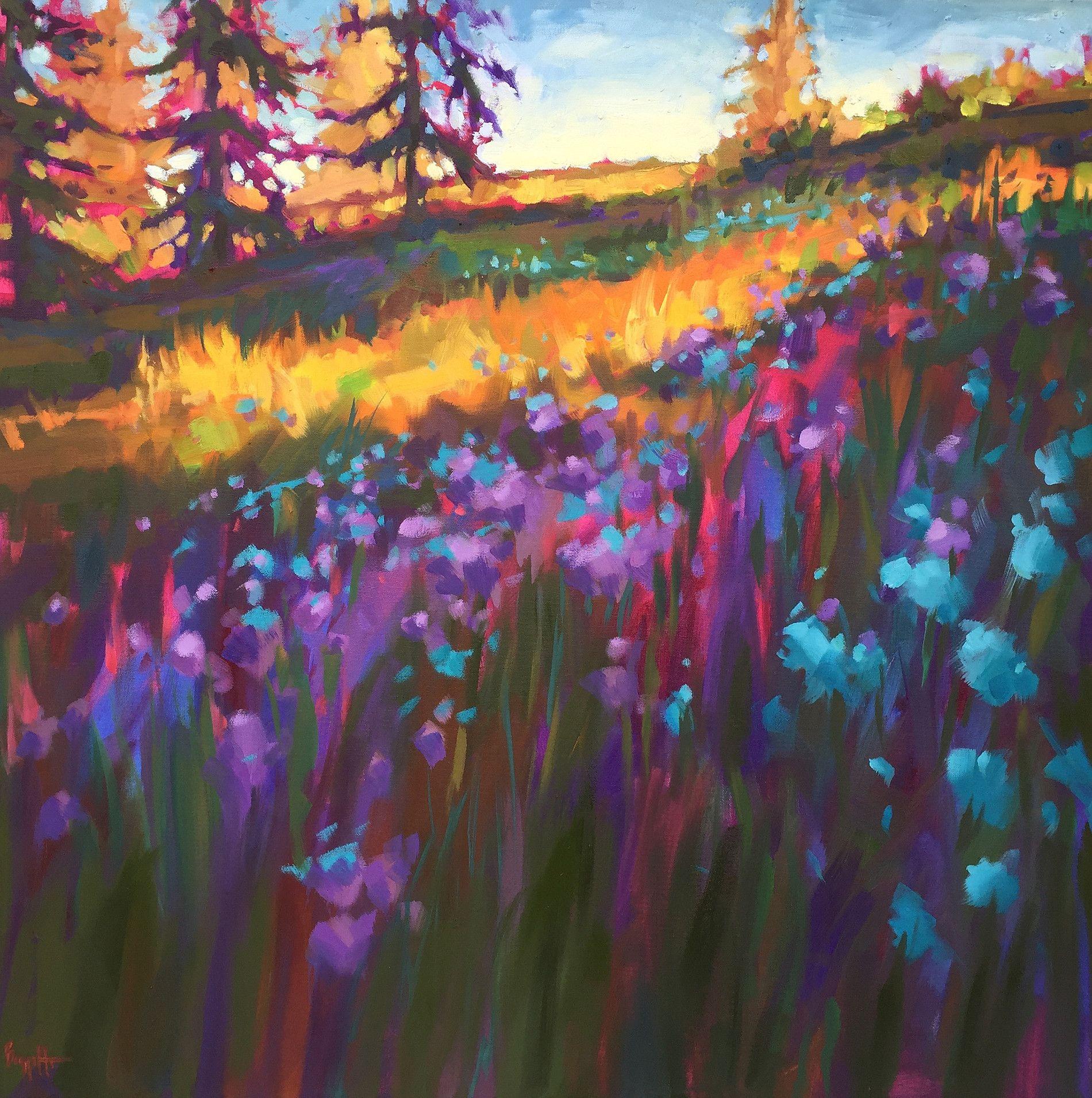 SpringStory_36x36_oil.jpg   Oil pastel landscape, Oil pastel ...