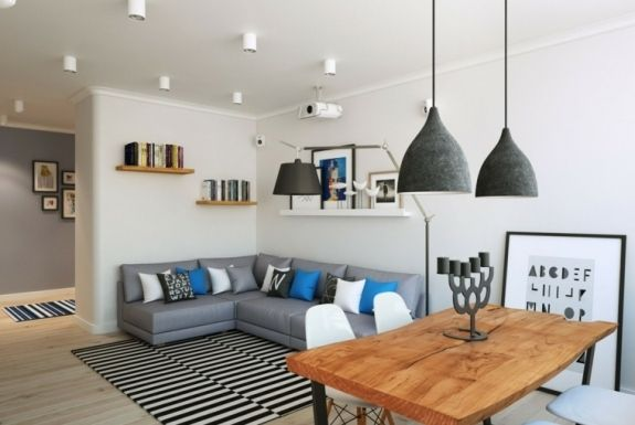 Intérieur appartement moderne du0027inspiration scandinave à Moscou Salons