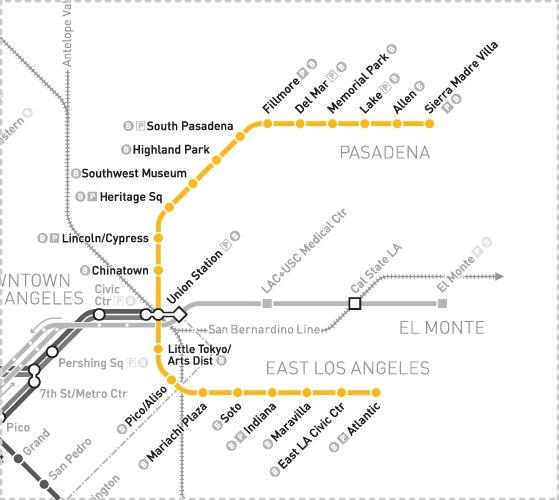 Gold Line Stops And Descriptions Gold Line Metro Map Union Station