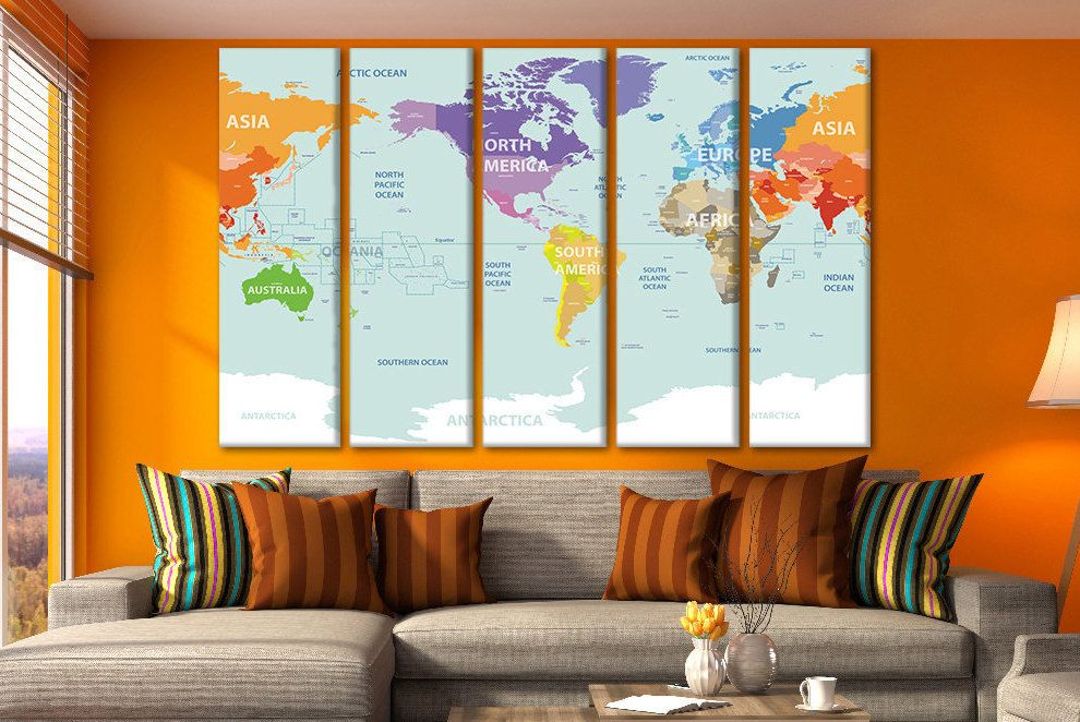 Map poster push pin travel world maps canvas world maps custom world map poster push pin travel world maps canvas world maps custom world map travel map art gumiabroncs Images