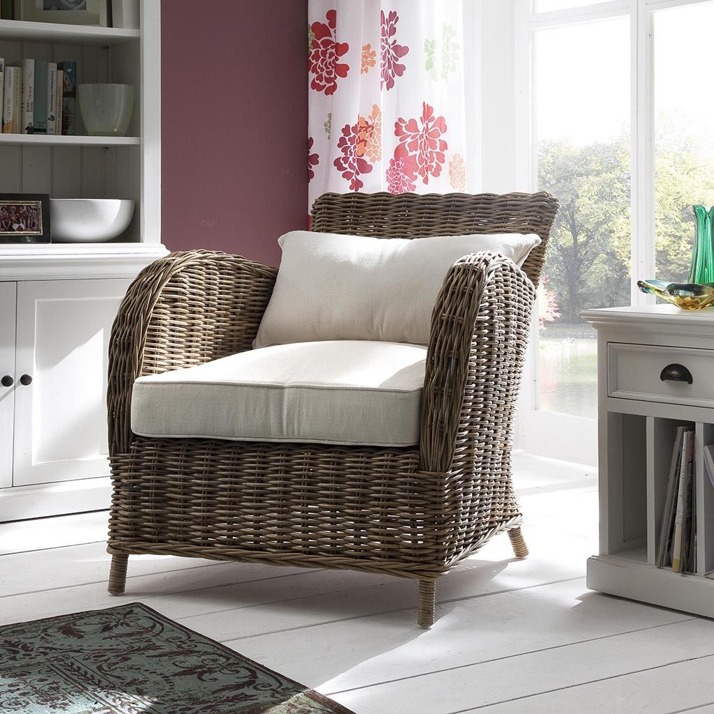 Kelly coastal rattan accent chair living room chairs