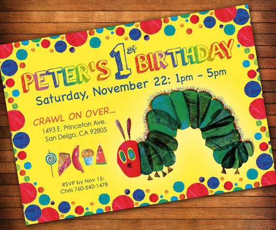 Hungry caterpillar party invitation the very hungry caterpillar get in less than this listing includes a 4 x 6 or 5 x 7 the very hungry caterpillar by eric carle birthday party invitation as a digital file filmwisefo Choice Image