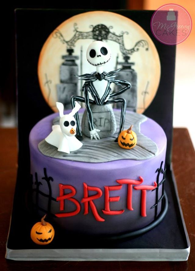 Gorgeous Jack Skellington Birthday Cake Cake Birthdays and
