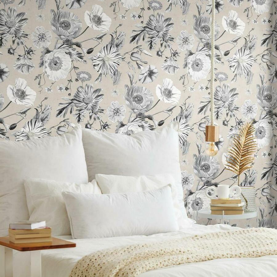 Vintage Poppy Peel And Stick Wallpaper Peel And Stick Wallpaper Roommate Decor Room Visualizer