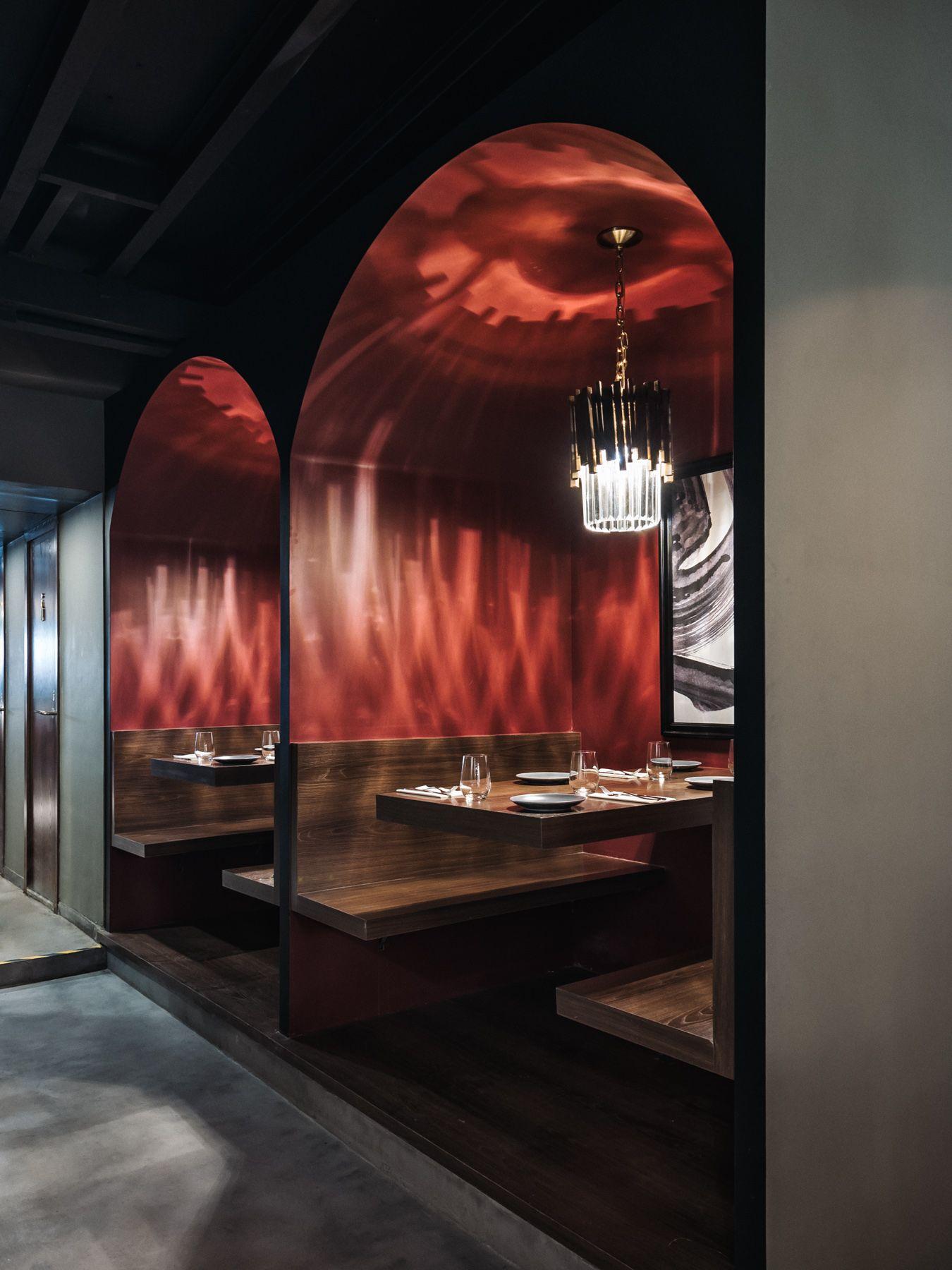 266 The Wine Room In 2020 Bar Design Restaurant Wine Bar Restaurant Red Interior Design