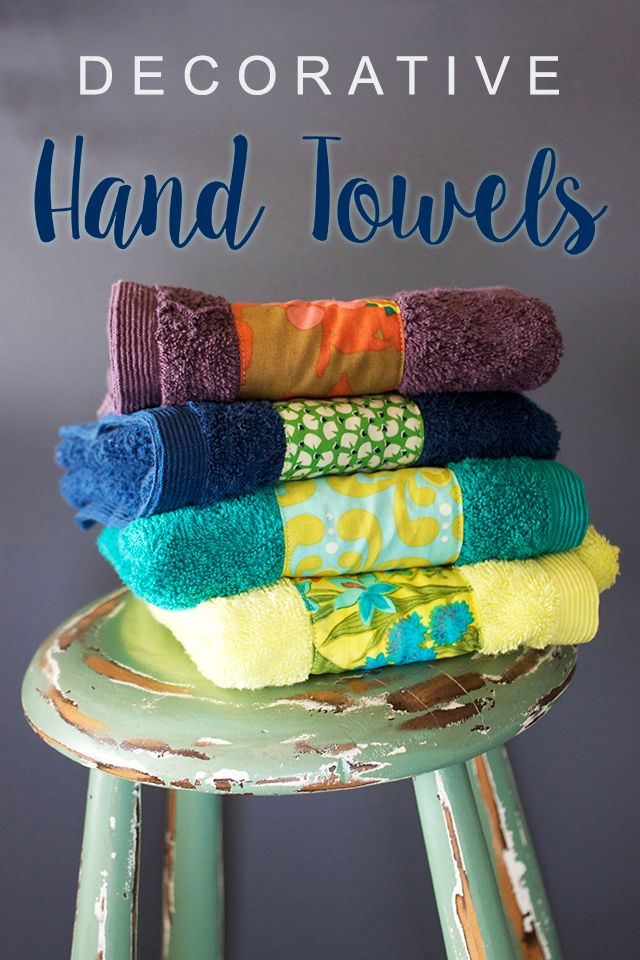 Sewing Project Decorative Hand Towels Gifts To Make Decorative