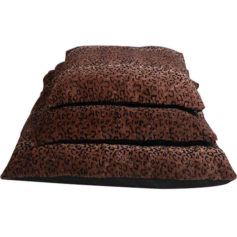 3 Size Fashion Leopard Pet Mat Resistance Soiling Dog Cat