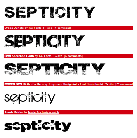 Dafont Is A Great Site For Looking Up Various Fonts Which Are Free To Download We Used This For Our Poster Magazi Graphic Design Fonts Magazine Titles Dafont