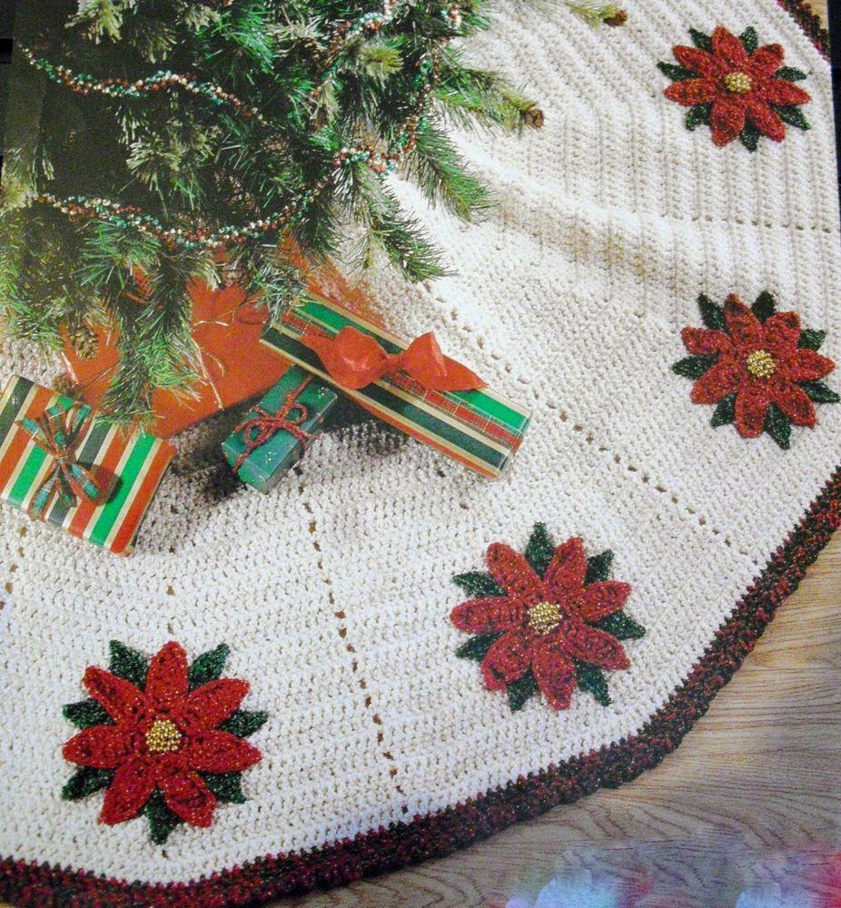 Vintage Retro Christmas Tree Skirt Crochet Pattern 60\