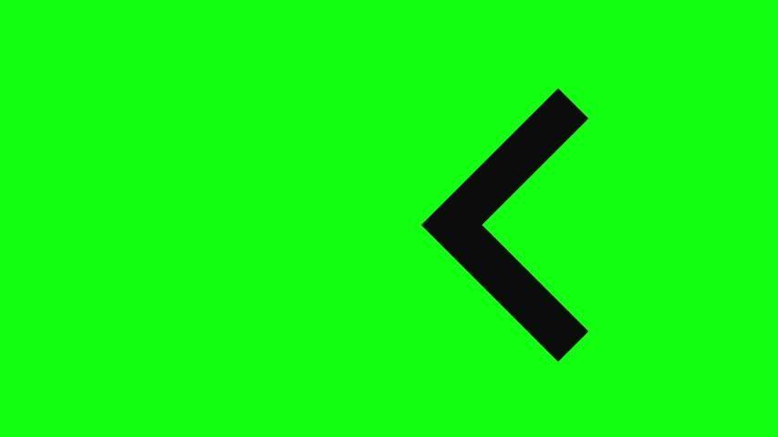 Green Screen Signal Arrow Signal Stock Footage Video