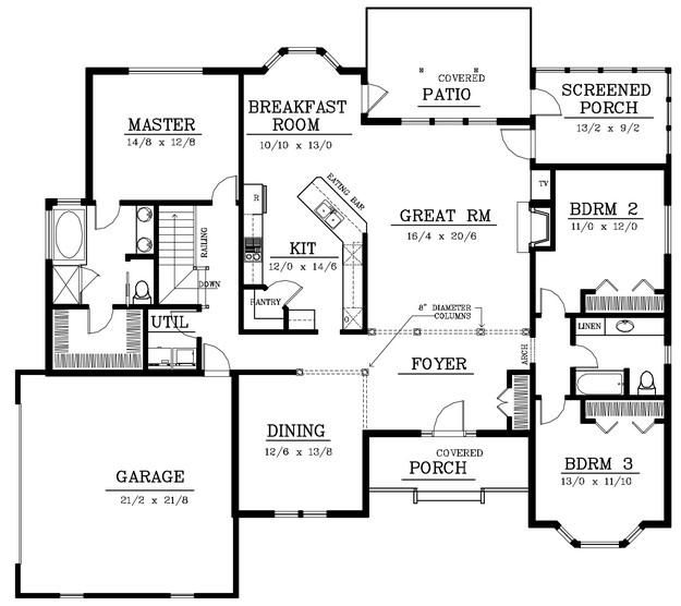 house plan 692 00190 southern plan 2 200 square feet 3