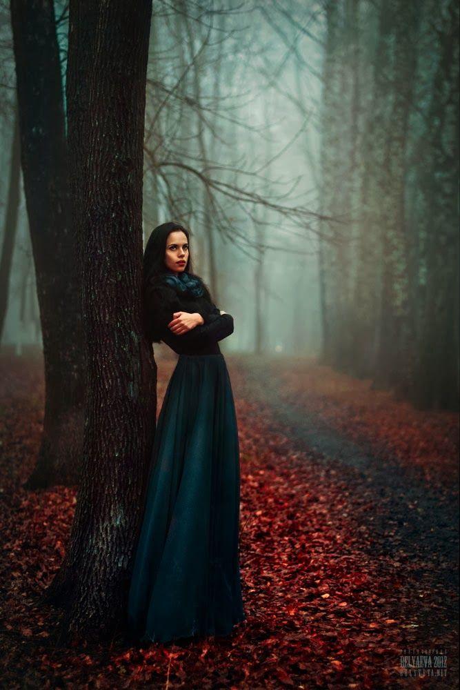 Фотосессии в лесу в платьях