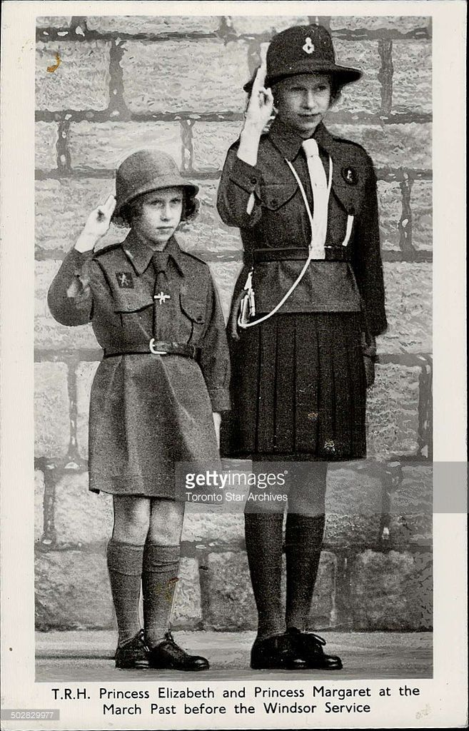 English In Italian: Princesses Elizabeth And Margaret In Their Girl Guides