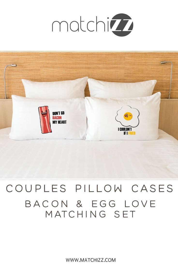 Couple Pillow Case Bacon And Egg Funny Matching Pillowcases