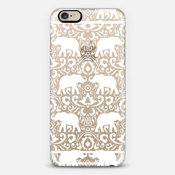 Elephant Damask White Clear | @casetify