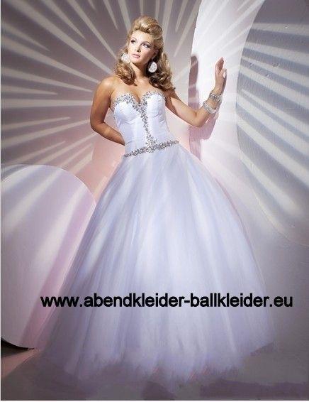 Abendkleid in Weiss Ballkleid Online | Ballkleider 2017 | Pinterest ...