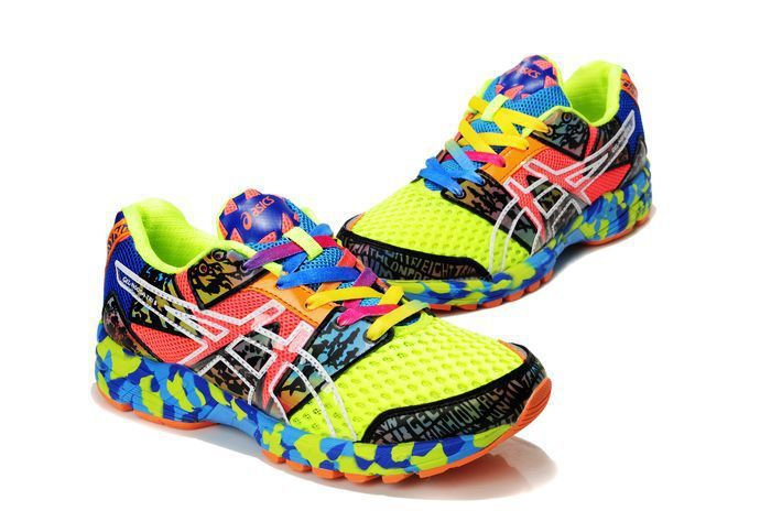colorfull sneakers | ... Asics 8th VIII Eighth Classic Women Colorful  Yellow Red Running