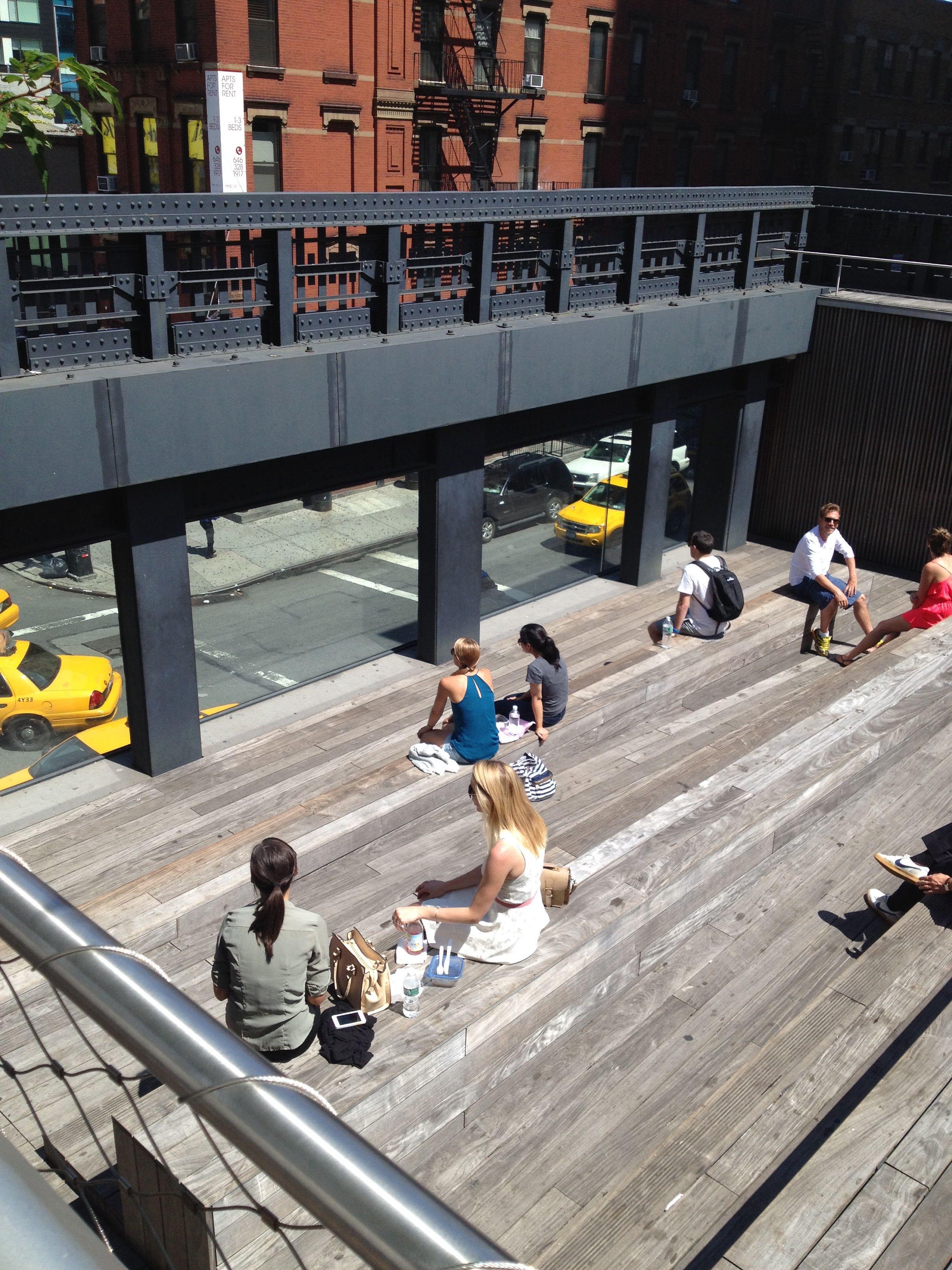 Doily Bird on tour... The High Line, above Chelsea Market, New York.