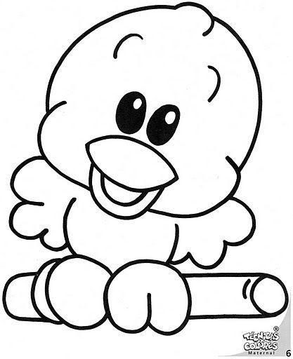 dibujos animados para colorear de animales tiernos ...