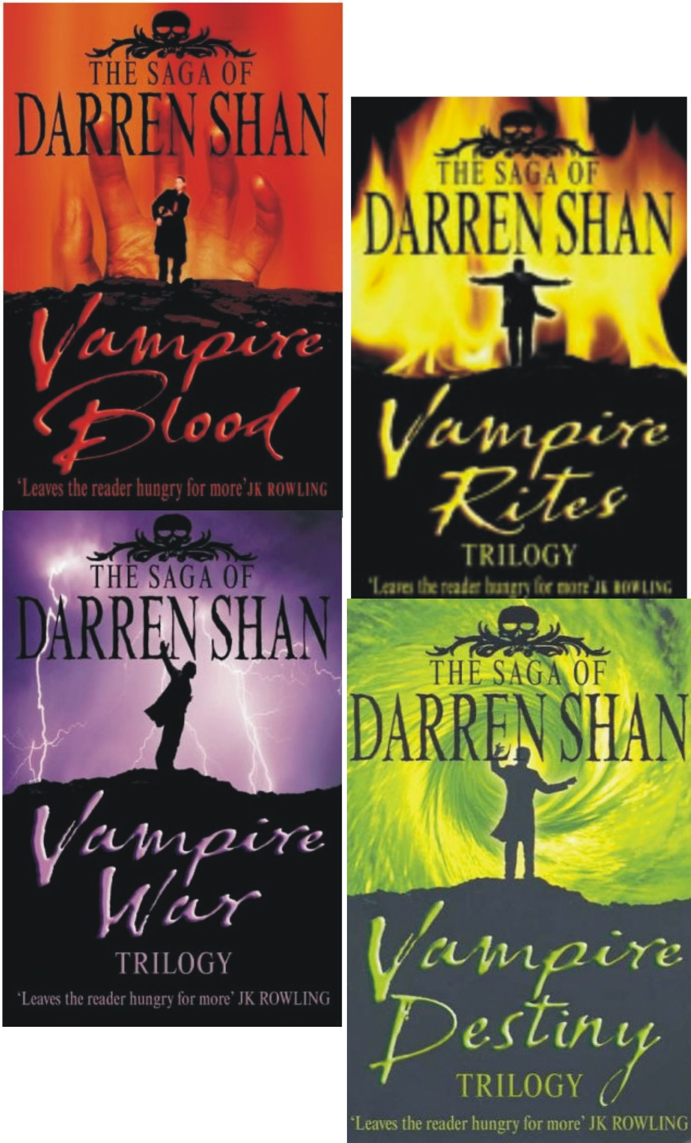 The Saga Of Darren Shan Vampire Trilogy Collection Set,books `112