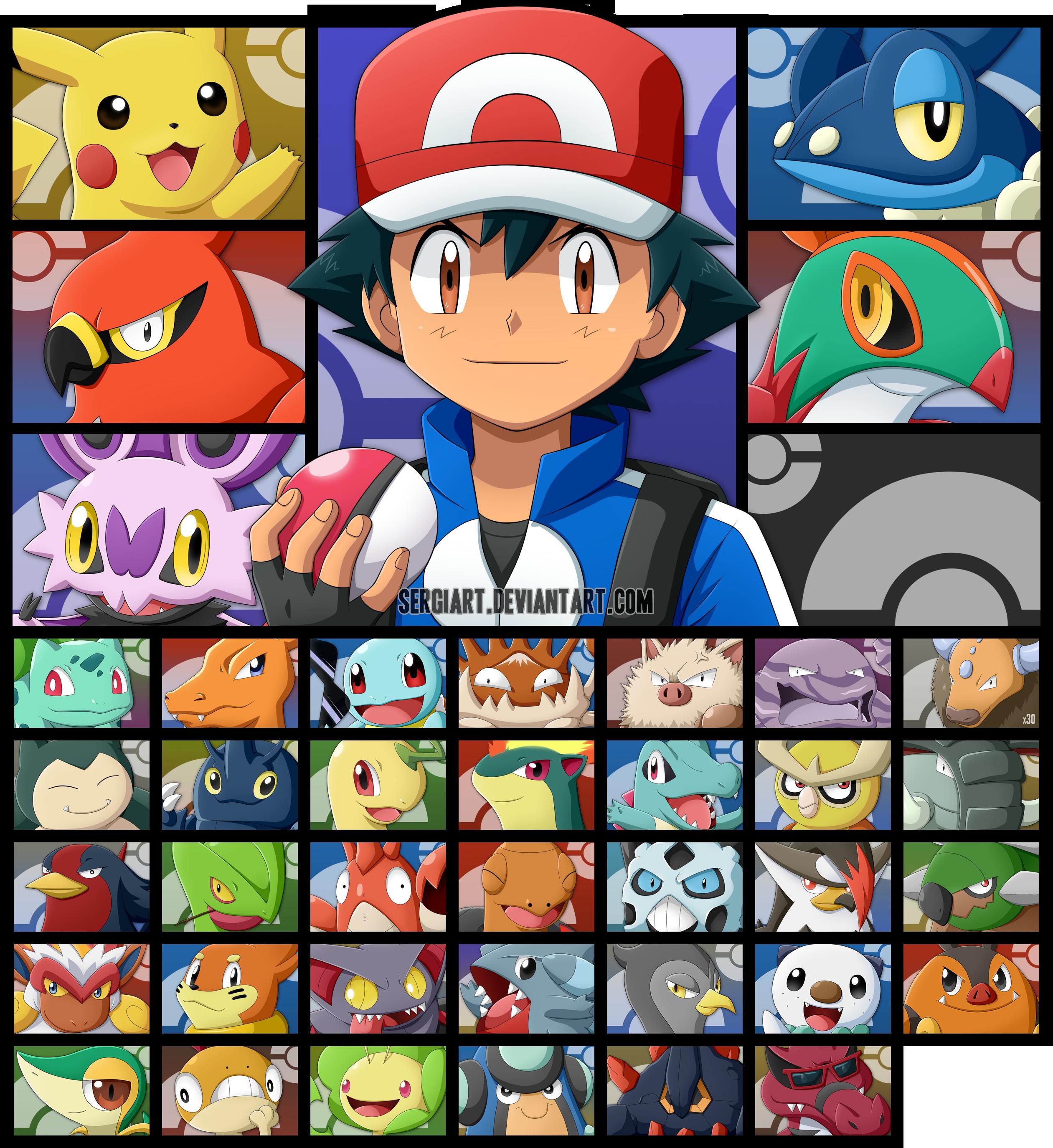 Pokemon - Ash's Journey by SergiART.deviantart.com on ...