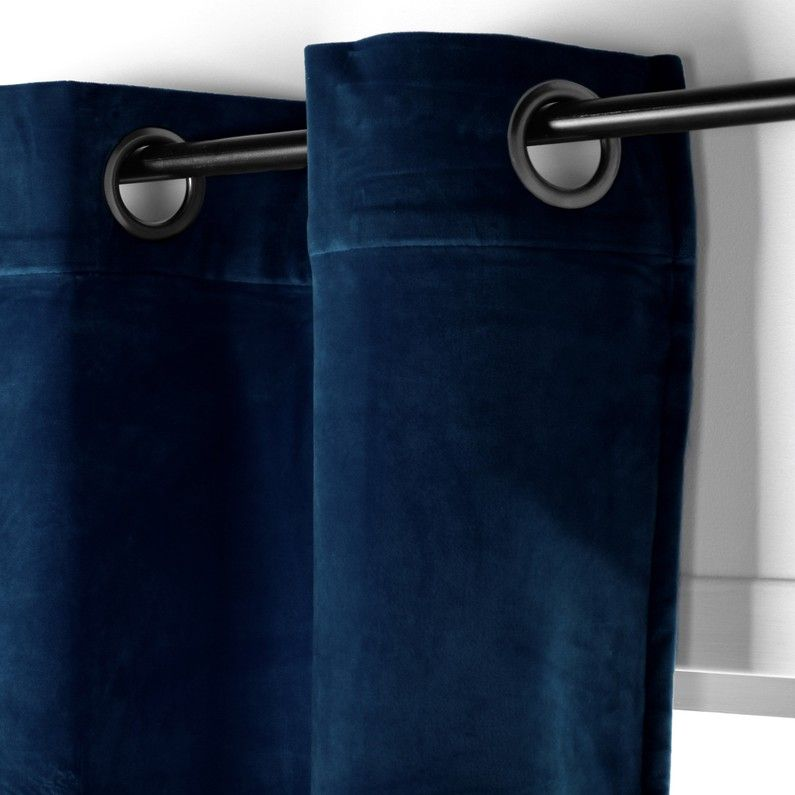 rideau tamisant chambord velours bleu
