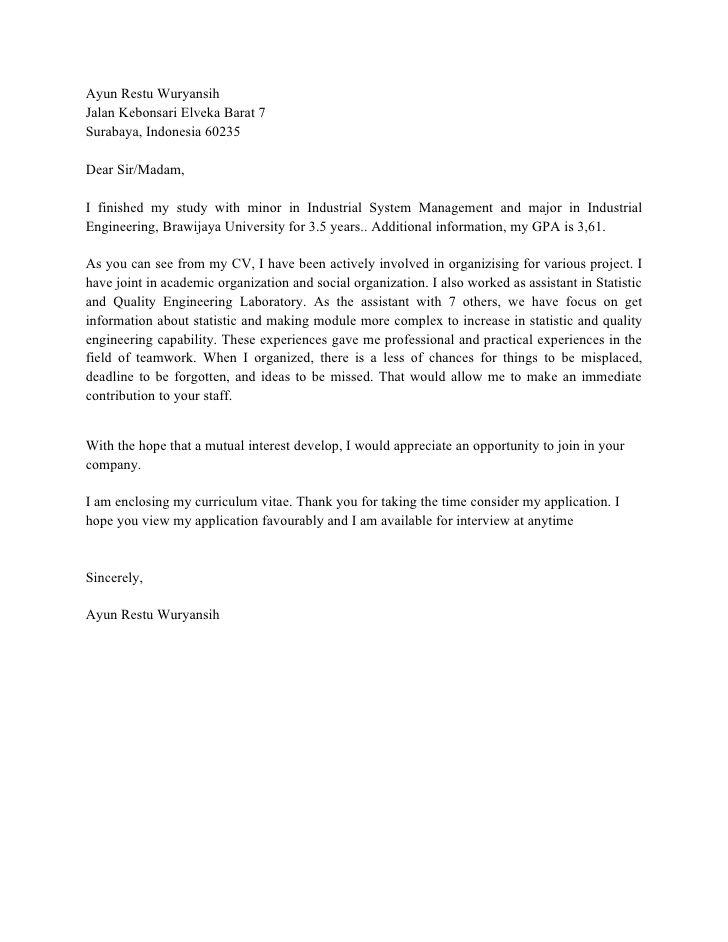 Contoh Cover Letter Bahasa Inggris Untuk Hotel Surat Lamaran Kerja