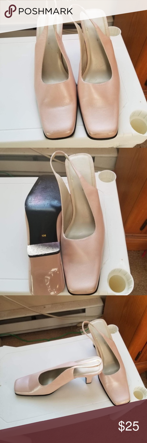 Slingback Heels Very good condition. Pink pearl soft