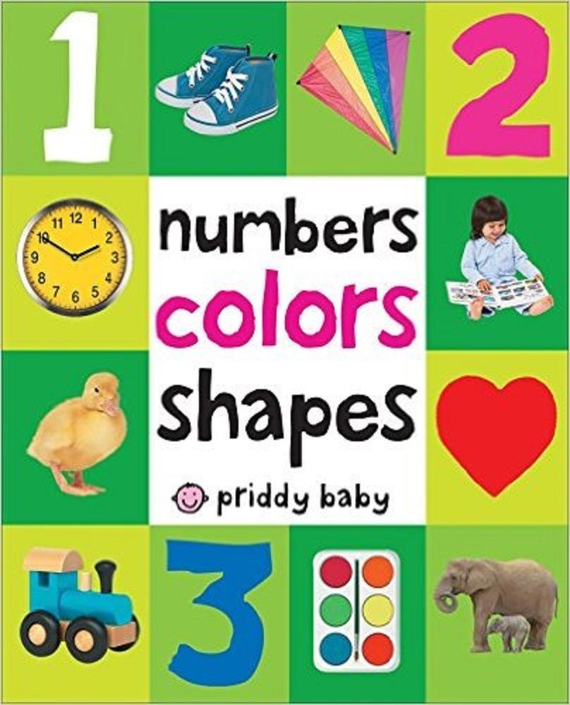 First 100 Numbers Colors Shapes Baby Book Children Learning Kids ...