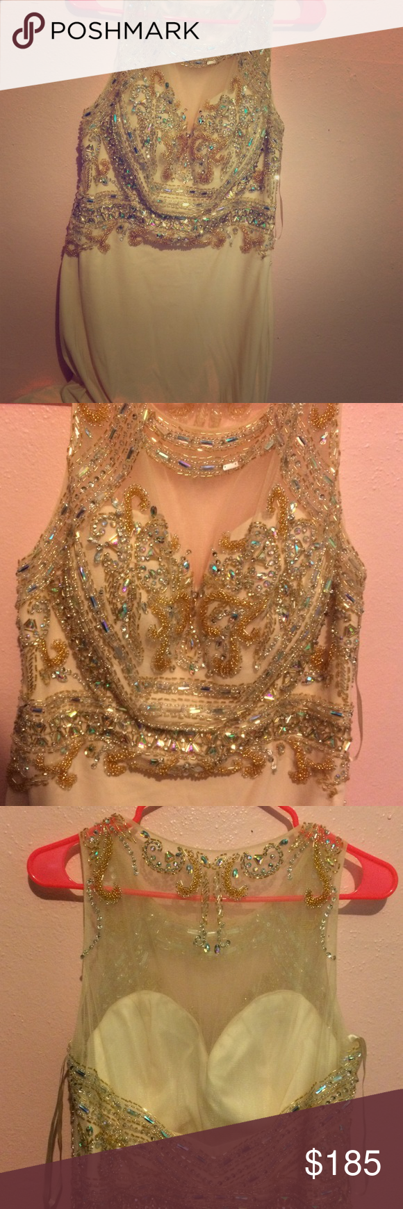 Prom dress large prom dress very detailed sequence peace color