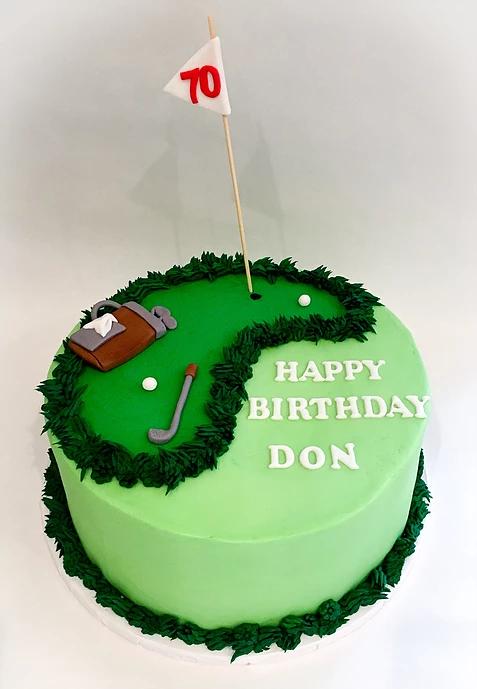 Fine Golf Theme Cake Golf Birthday Cakes Golf Themed Cakes Golf Cake Funny Birthday Cards Online Ioscodamsfinfo