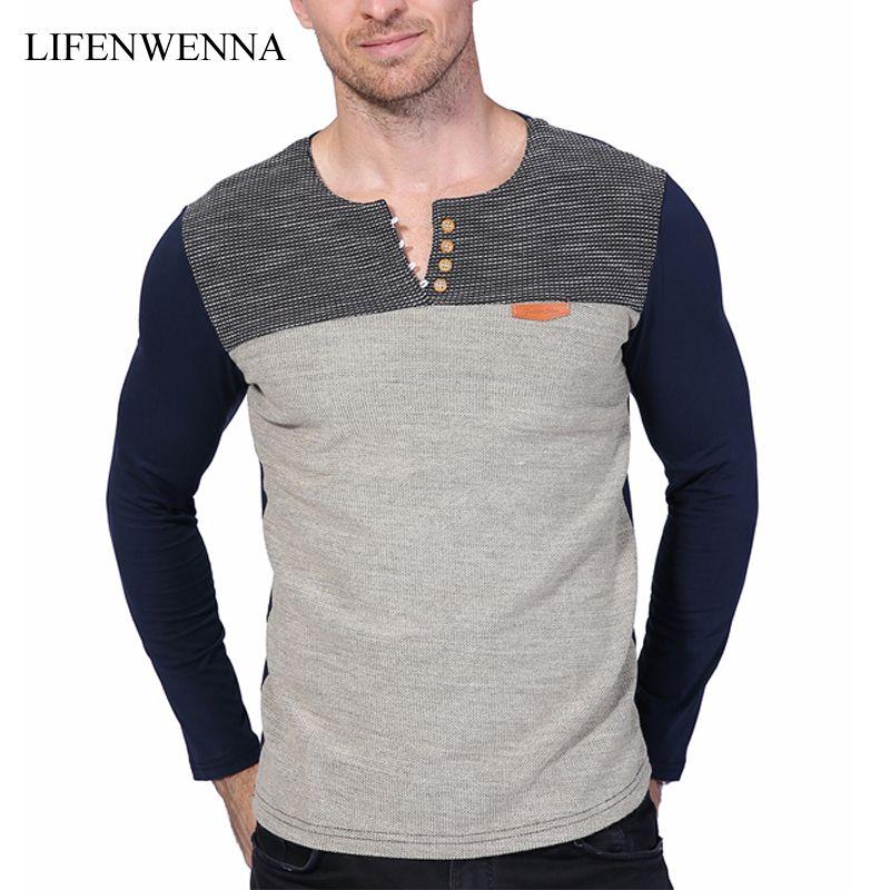 Hot Sale 2017 New Fashion Brand O Neck Slim Fit Long Sleeve T Shirt