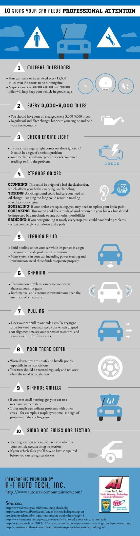 Nice 10 Signs Your Car Needs Professional Attention Car And Automotive Infographics Check More At Http Autoboard Pro 201 Car Care Tips Car Shop Car Hacks