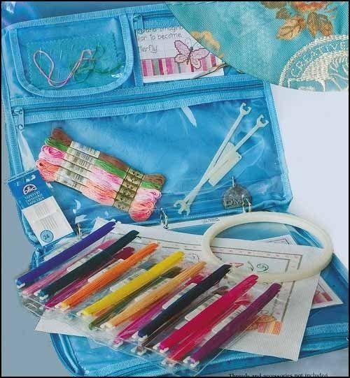 Stitch Bow Needlework Travel Bag Floss Project Organizer
