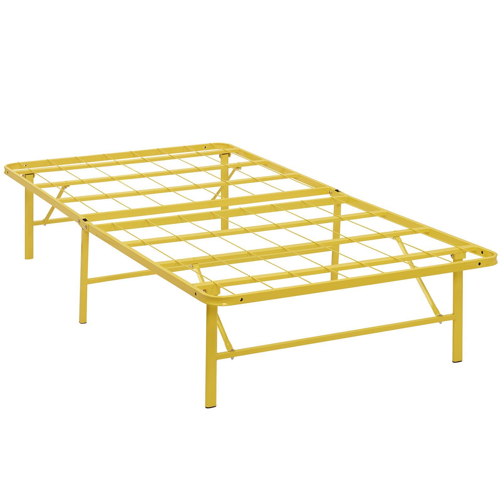 Horizon Twin Stainless Steel Bed Frame - Yellow