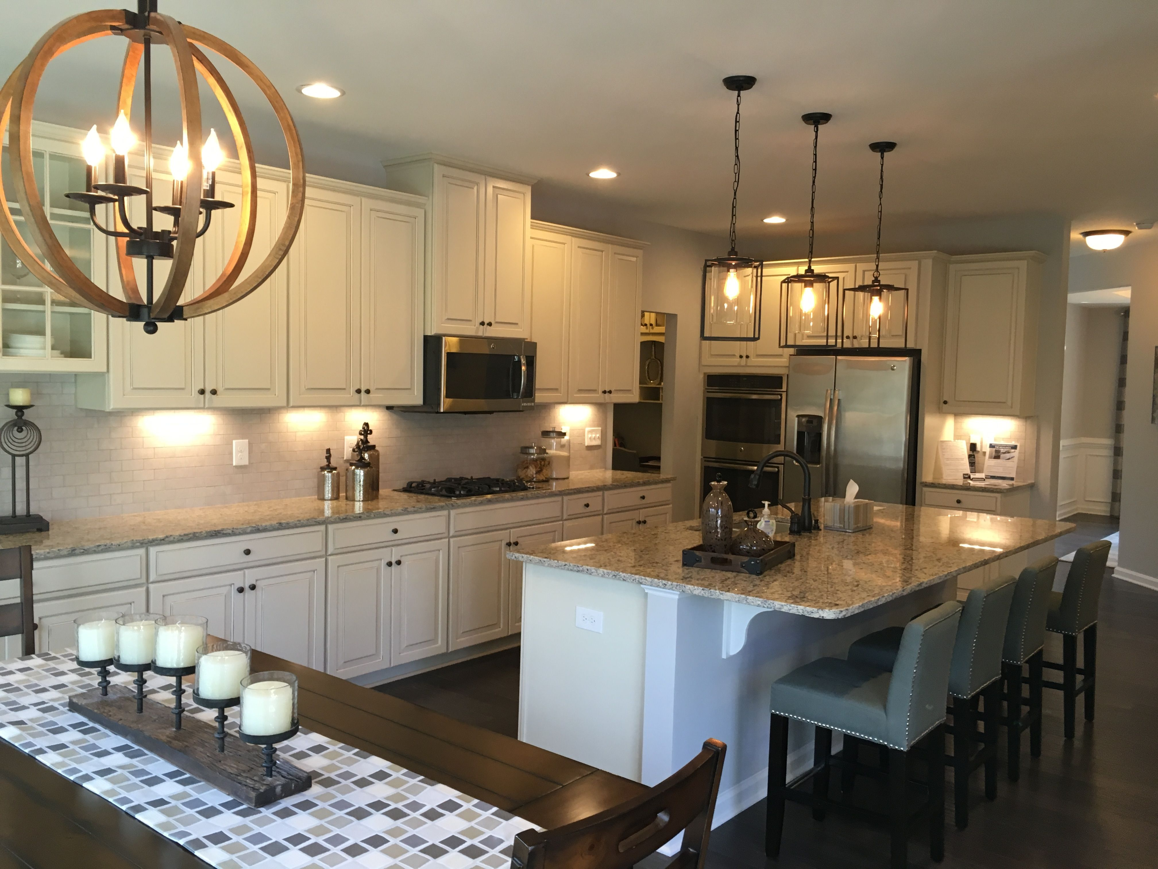 new kitchen layout - jefferson square model - ryan homes | dream