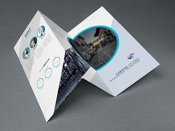 Creative Trifold Brochure Template Psd  Free WebGraphic Design