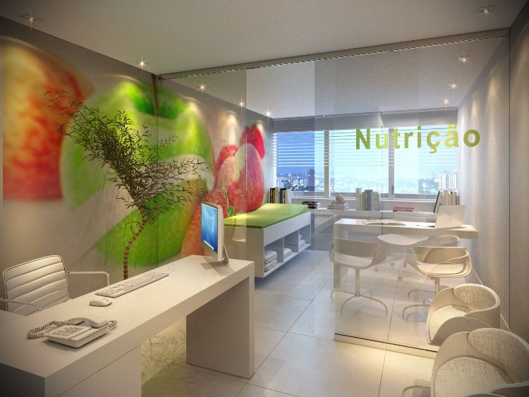 Populares Sala para Nutricionista | Nutrición | Pinterest | Consultório  DO46