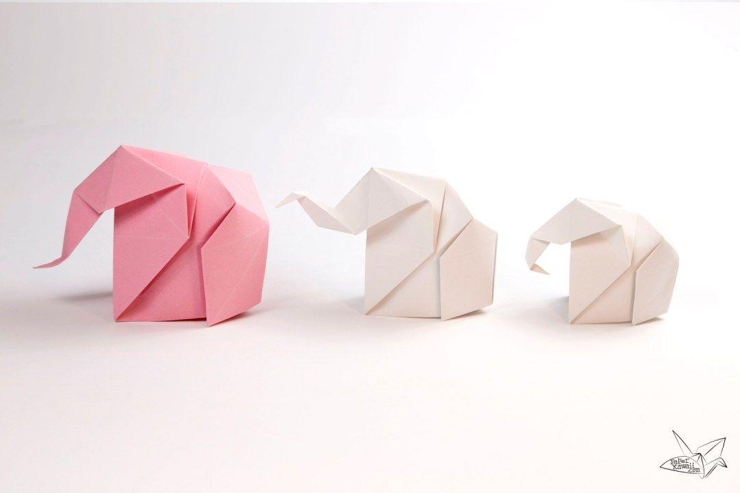 Origami Elephant Tutorial Origami Elephant Origami And Kawaii